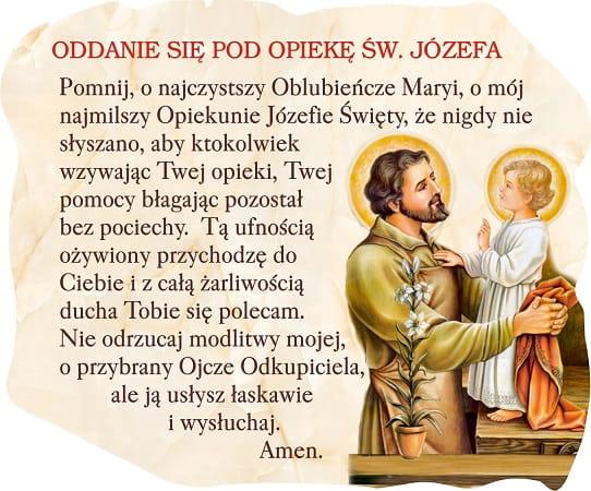 Splendor24.pl - sklep internetowy Naszej Przyszłości w Szczecinku Magnes  Oddanie się pod opiekę św. Józefa